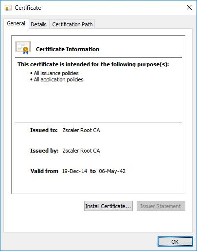 Install Zscaler Certificate Android