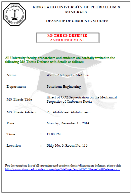 Master thesis defence speech