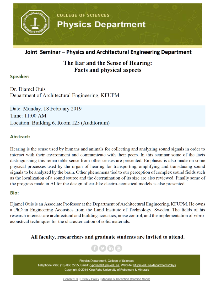 Joint  Seminar – Physics and Architectural Engineering Department   18-2-2019.png